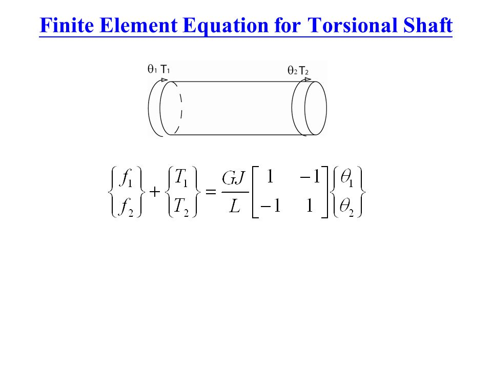 Finite Element Equation for Torsional Shaft