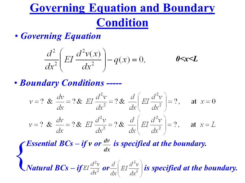 Governing Equation and Boundary Condition