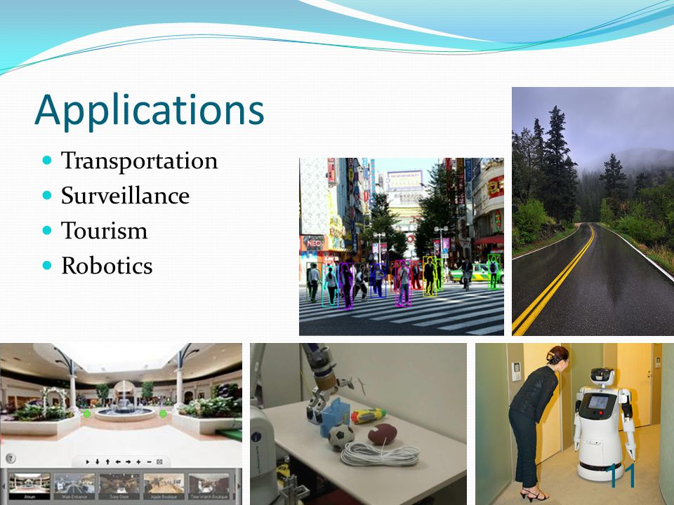 Applications Transportation Surveillance Tourism Robotics