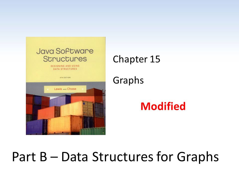 Part B – Data Structures for Graphs