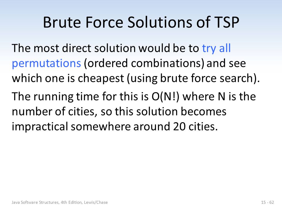 Brute Force Solutions of TSP
