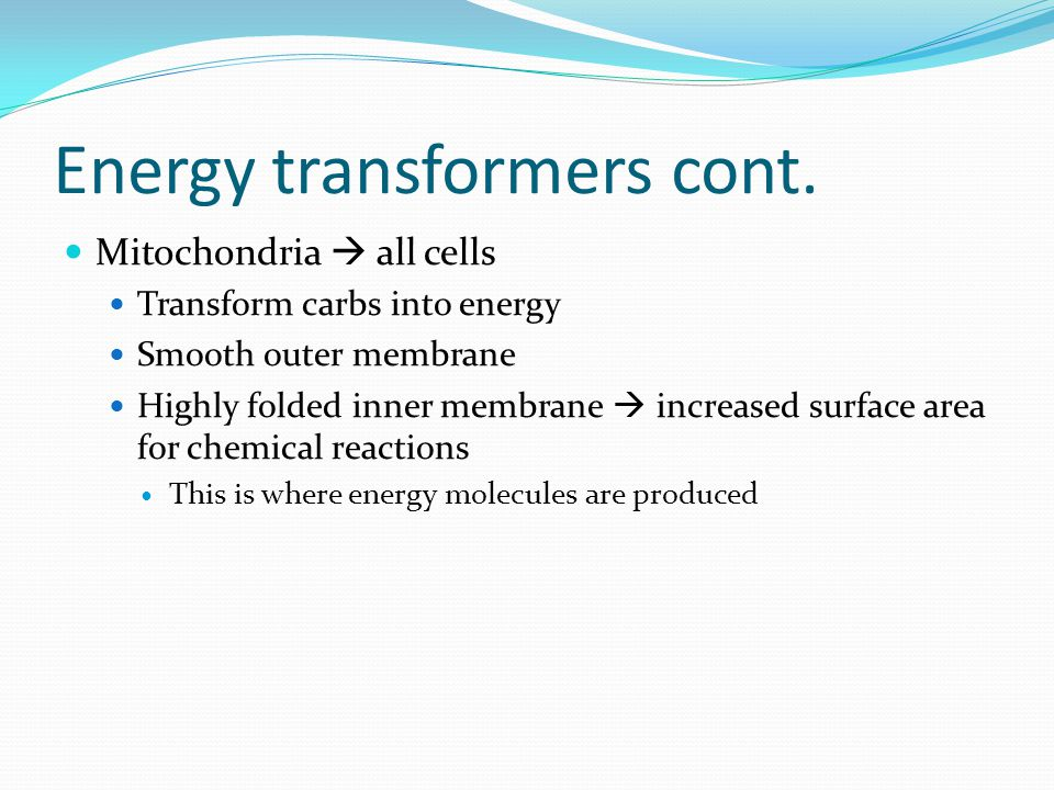 Energy transformers cont.