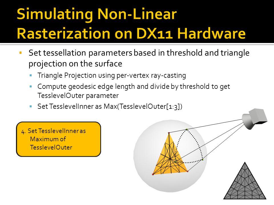 Simulating Non-Linear Rasterization on DX11 Hardware