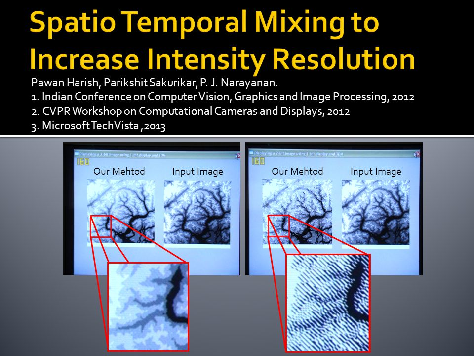 Spatio Temporal Mixing to Increase Intensity Resolution