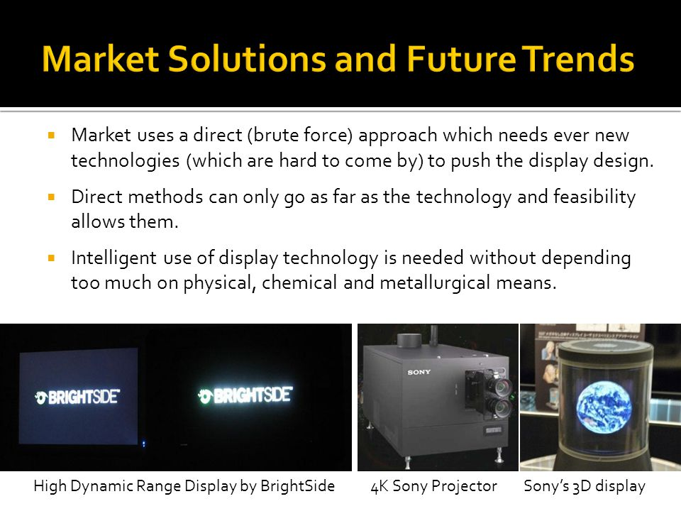 Market Solutions and Future Trends