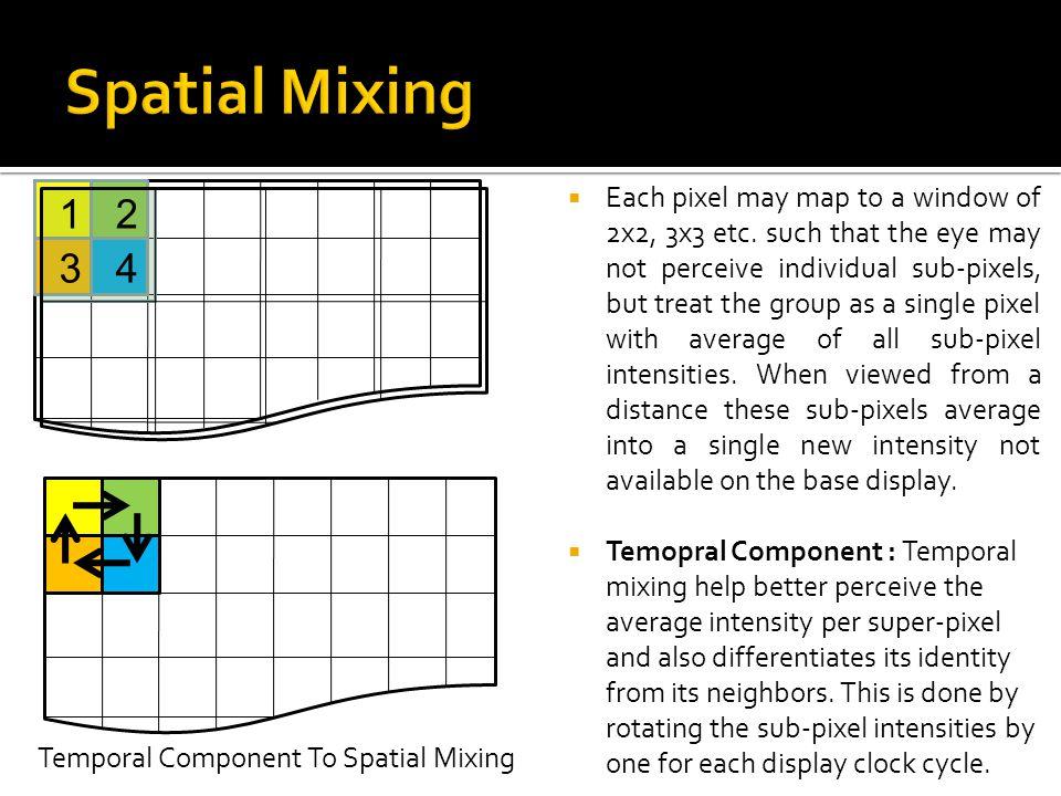 Spatial Mixing