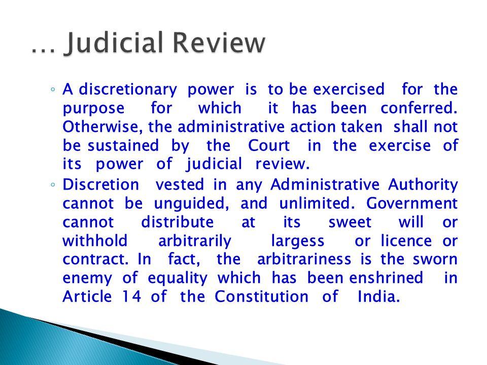 … Judicial Review