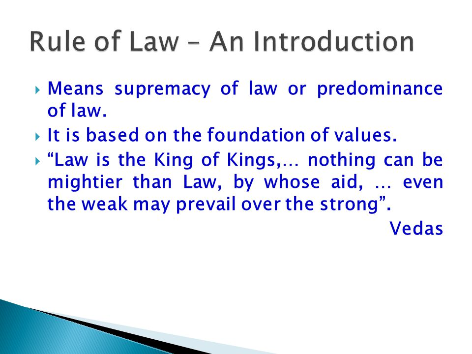Rule of Law – An Introduction