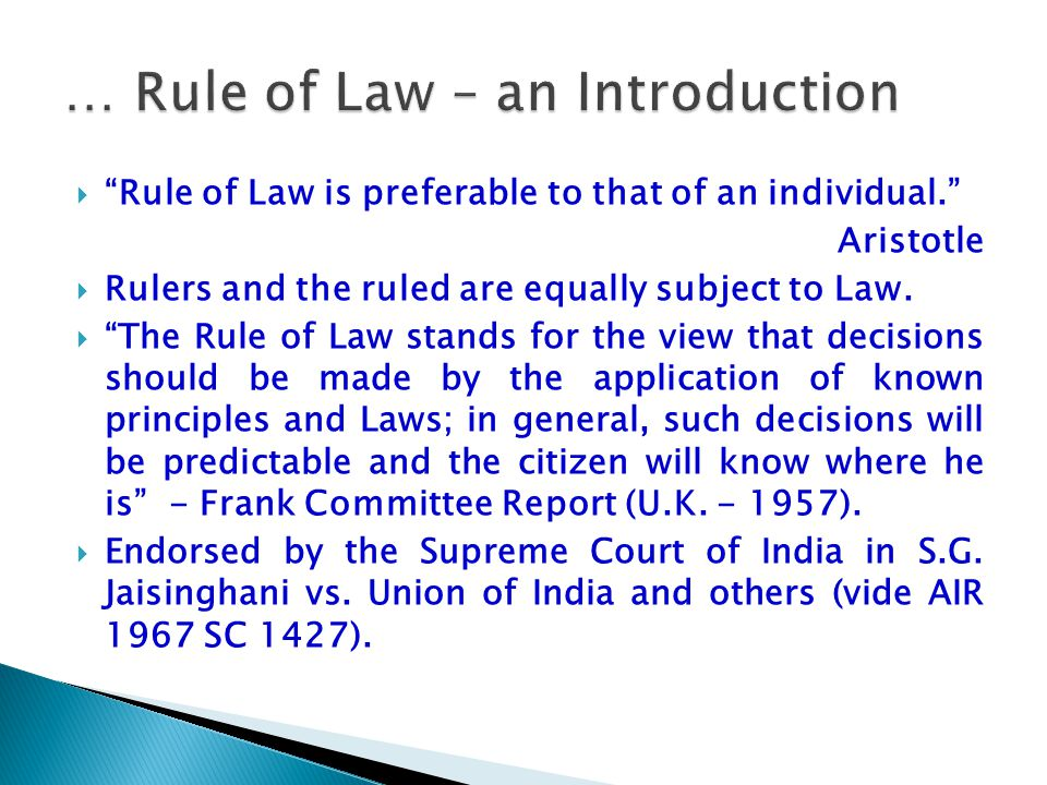 … Rule of Law – an Introduction