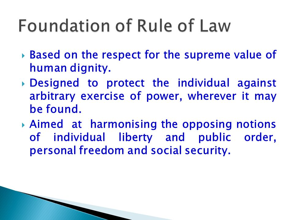 Foundation of Rule of Law
