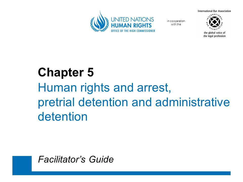 Chapter 5. Human rights and arrest,