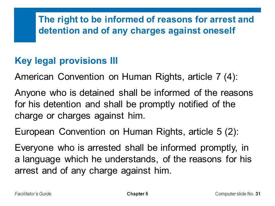 Key legal provisions III