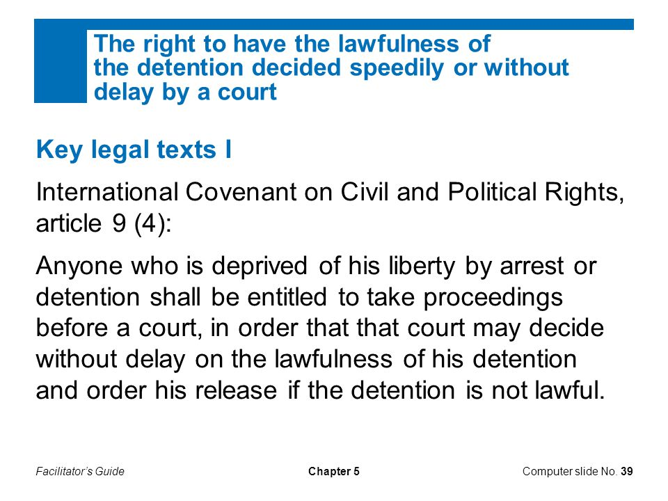 International Covenant on Civil and Political Rights, article 9 (4):