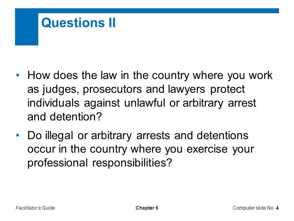 Questions II