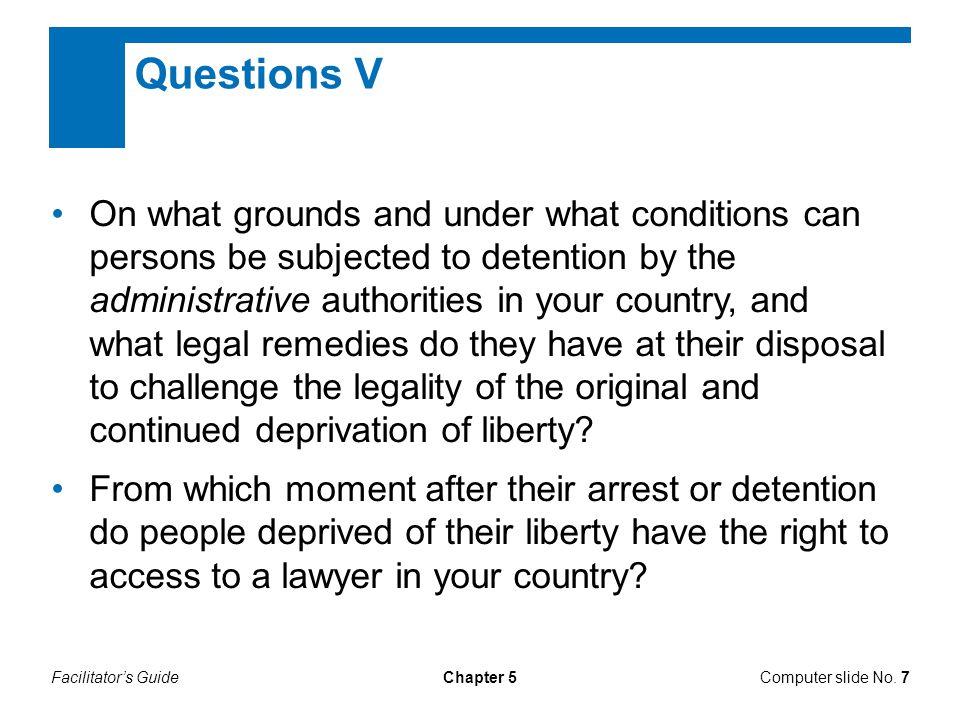 Questions V