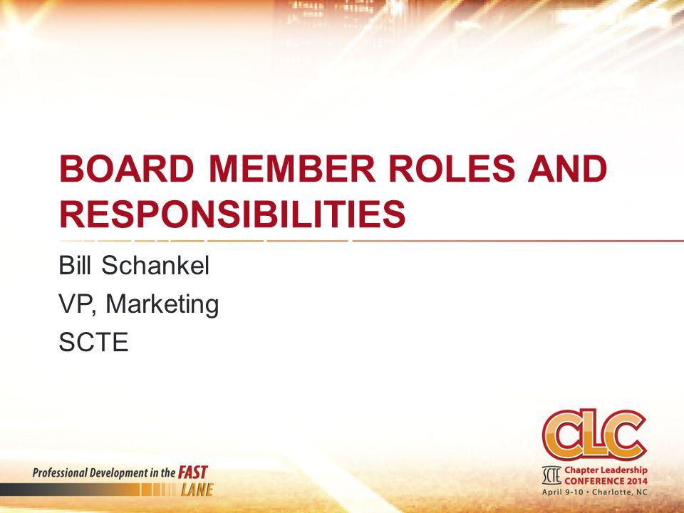 Board member roles and responsibilities