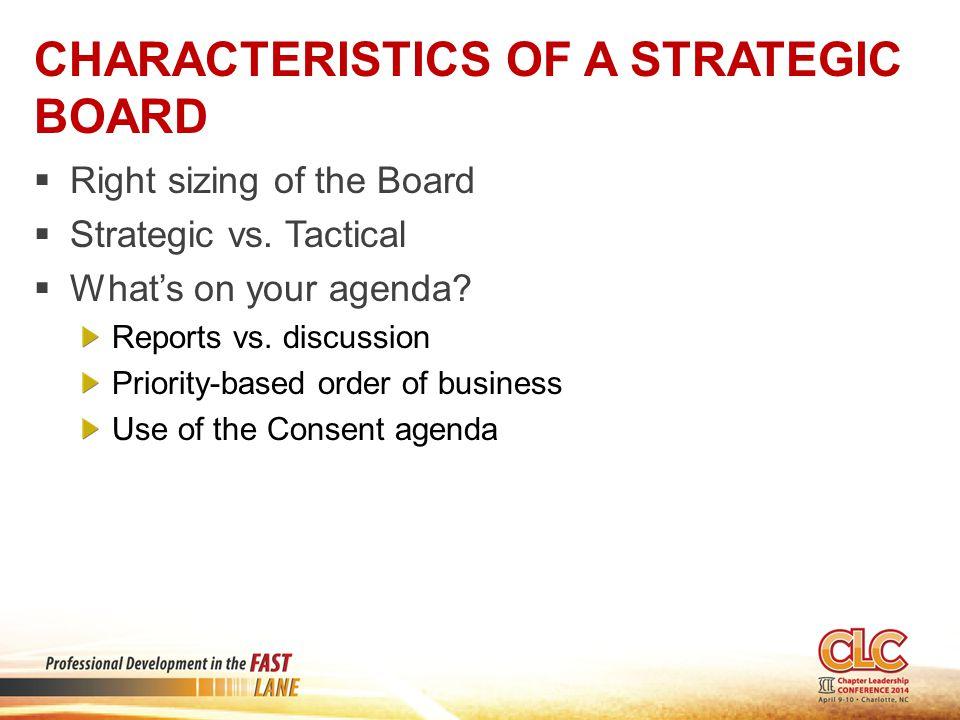 Characteristics of a Strategic Board