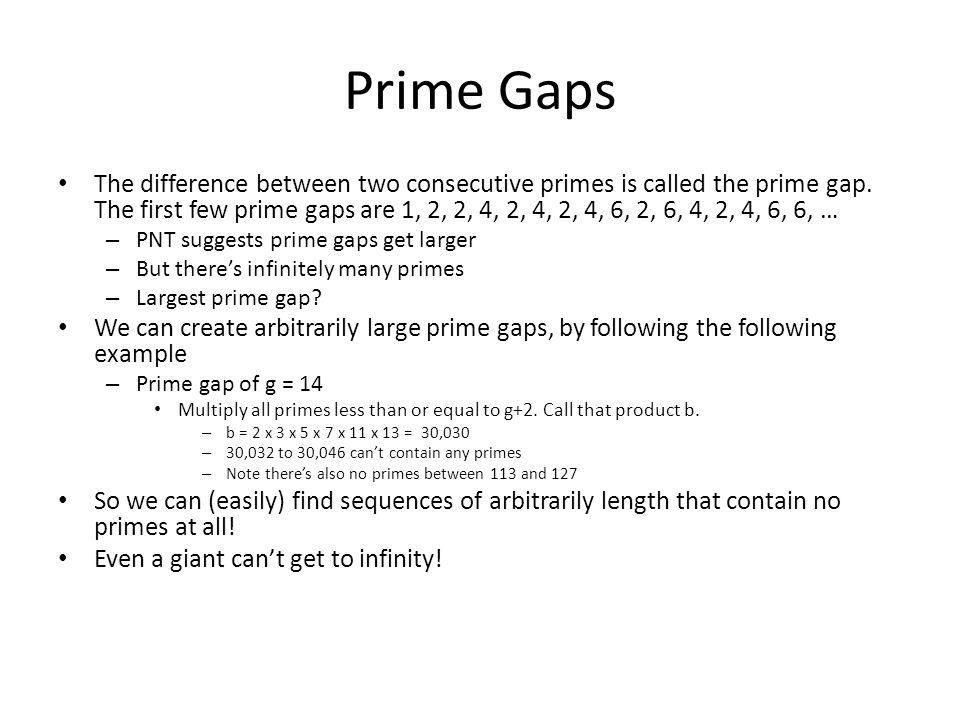 Prime Gaps