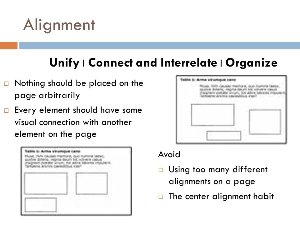 Unify l Connect and Interrelate l Organize
