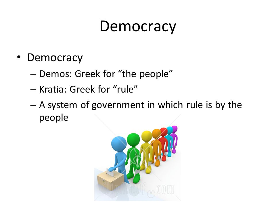 Democracy Democracy Demos: Greek for the people