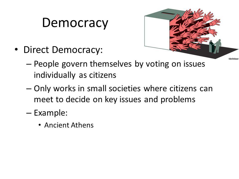 Democracy Direct Democracy:
