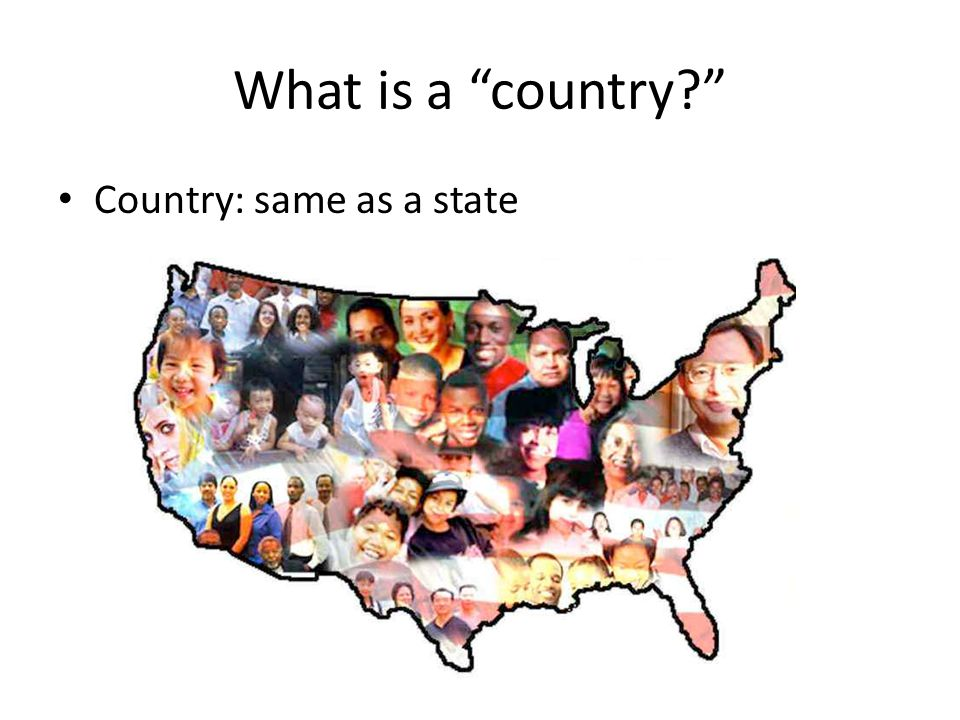 What is a country Country: same as a state
