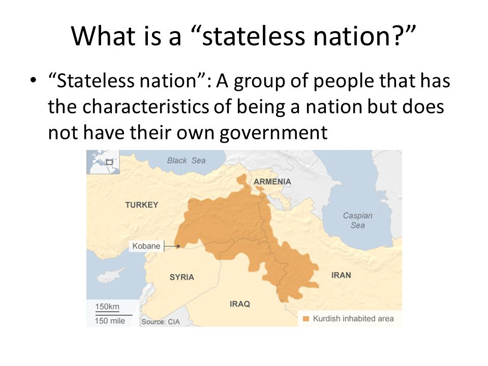 What is a stateless nation