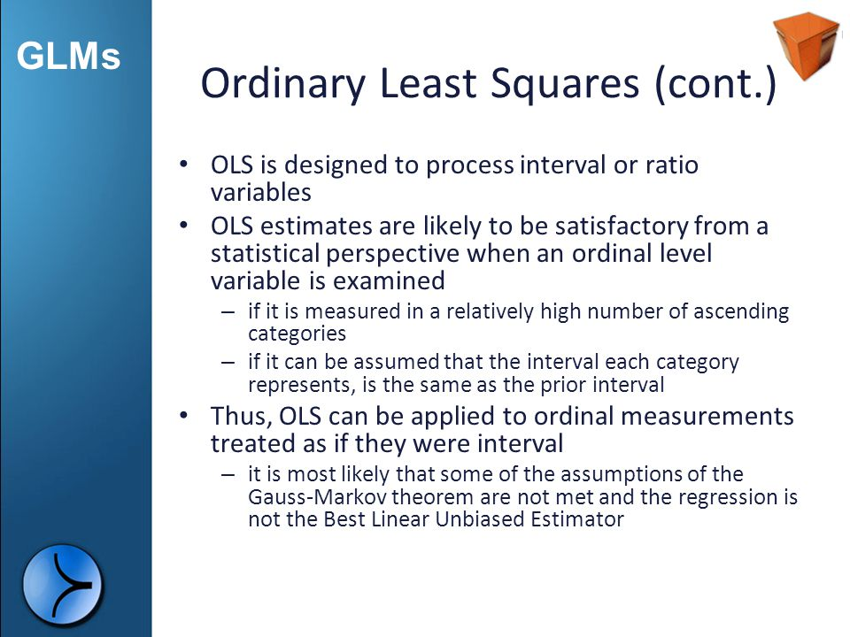 Ordinary Least Squares (cont.)