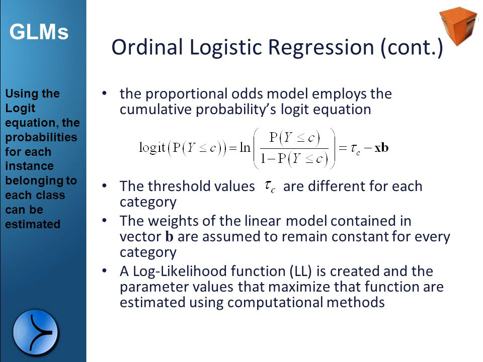 Ordinal Logistic Regression (cont.)