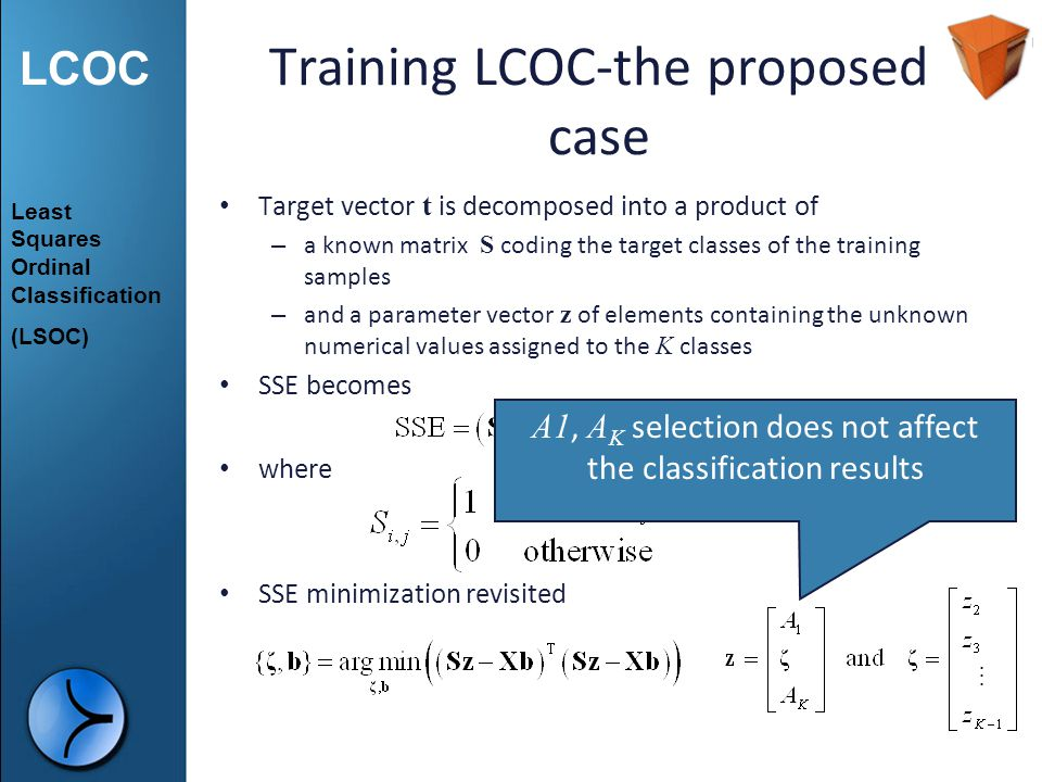 Training LCOC-the proposed case