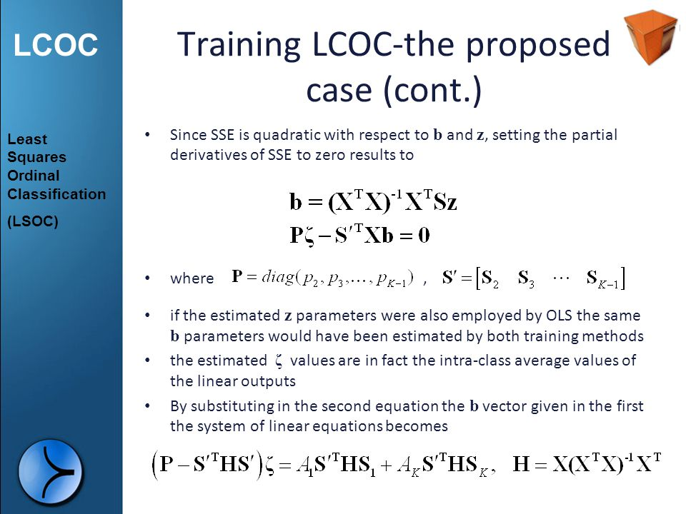 Training LCOC-the proposed case (cont.)