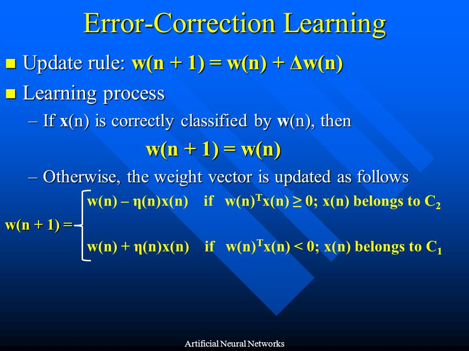 Error-Correction Learning