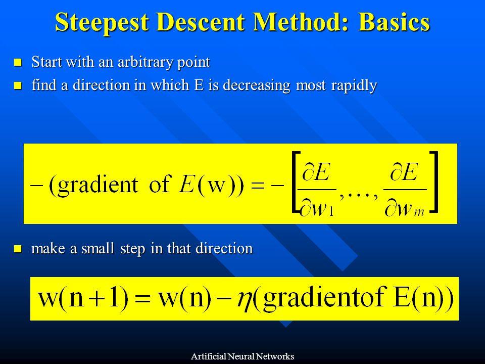 Steepest Descent Method: Basics