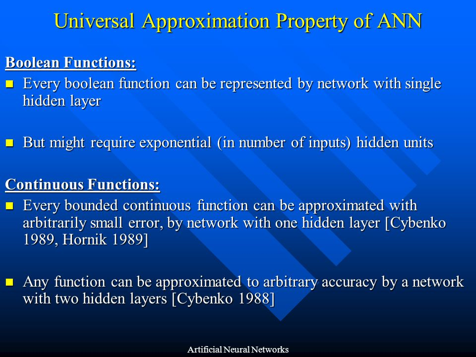 Universal Approximation Property of ANN