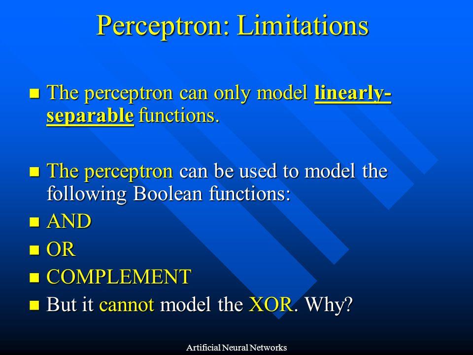 Perceptron: Limitations