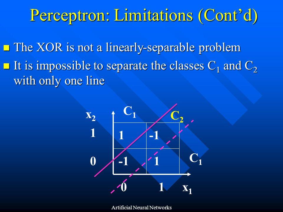 Perceptron: Limitations (Cont'd)