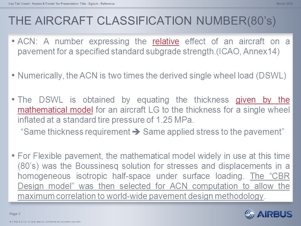 THE AIRCRAFT CLASSIFICATION NUMBER(80's)