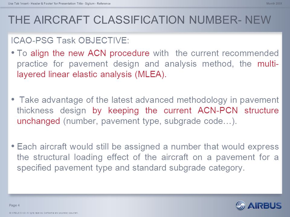 THE AIRCRAFT CLASSIFICATION NUMBER- NEW
