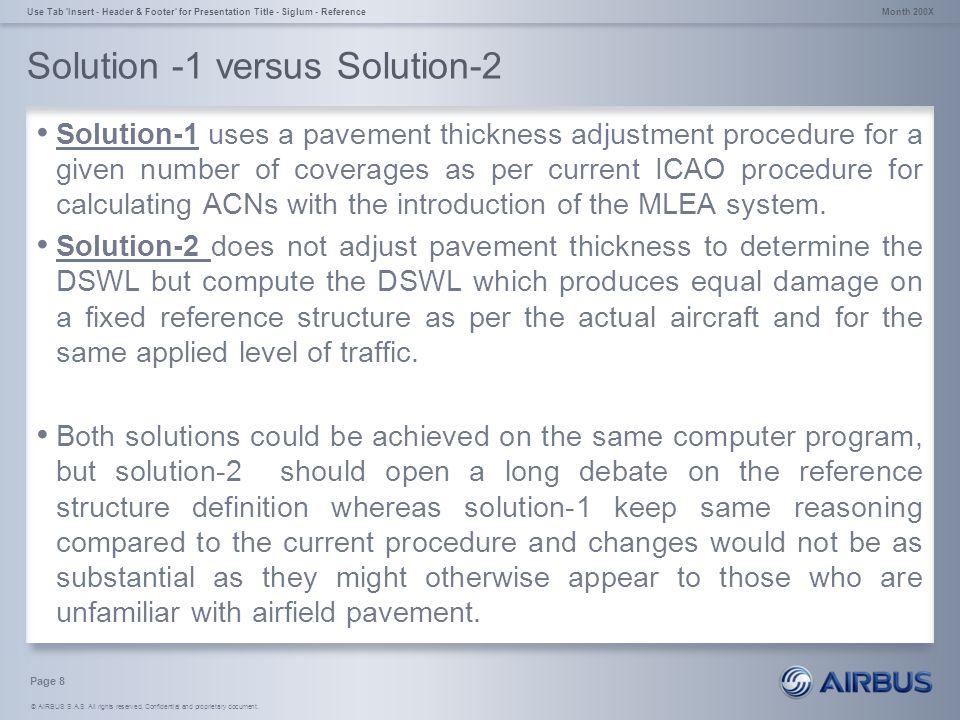 Solution -1 versus Solution-2