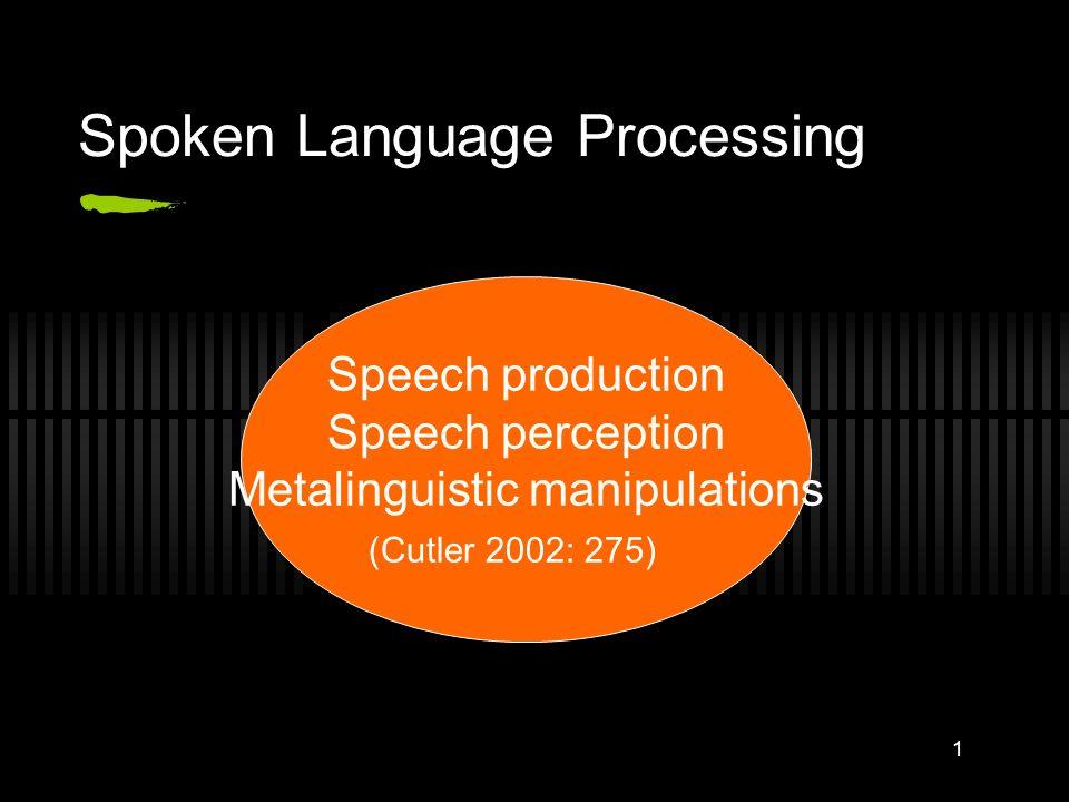 Spoken Language Processing