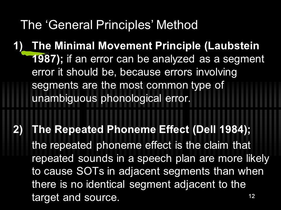 The 'General Principles' Method