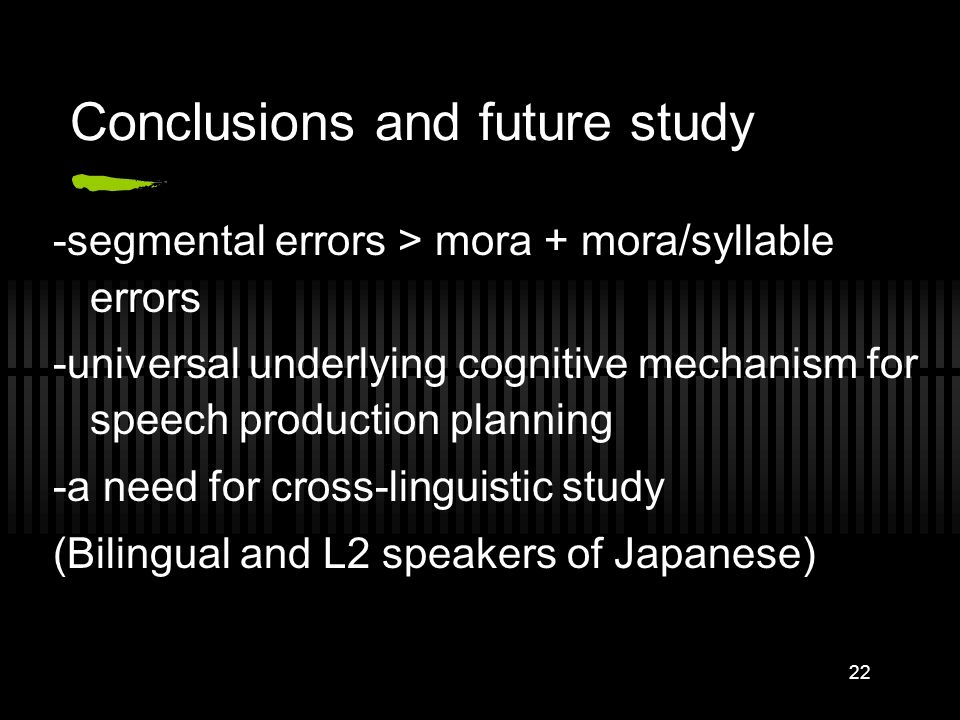 Conclusions and future study