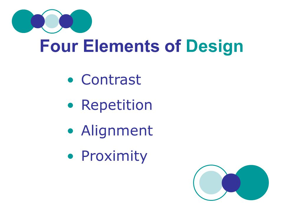 Four Elements of Design