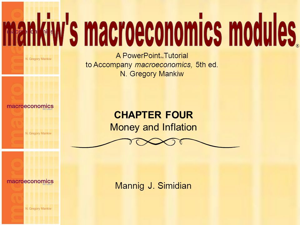 mankiw s macroeconomics modules