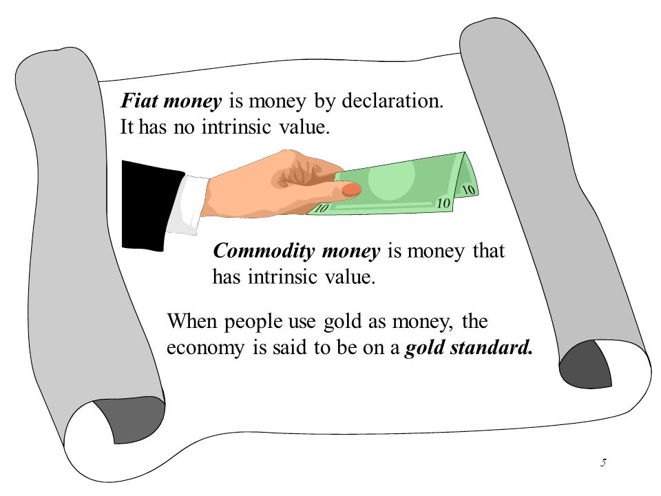 Fiat money is money by declaration.
