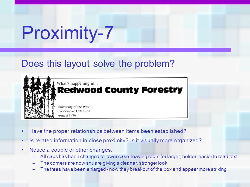 Proximity-7 Does this layout solve the problem