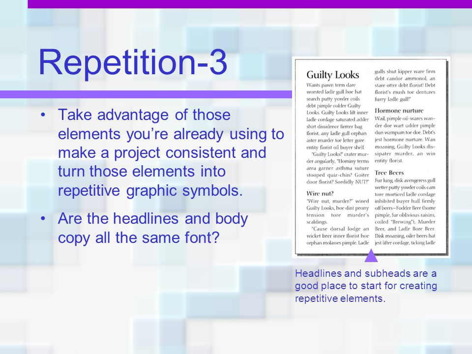 Repetition-3