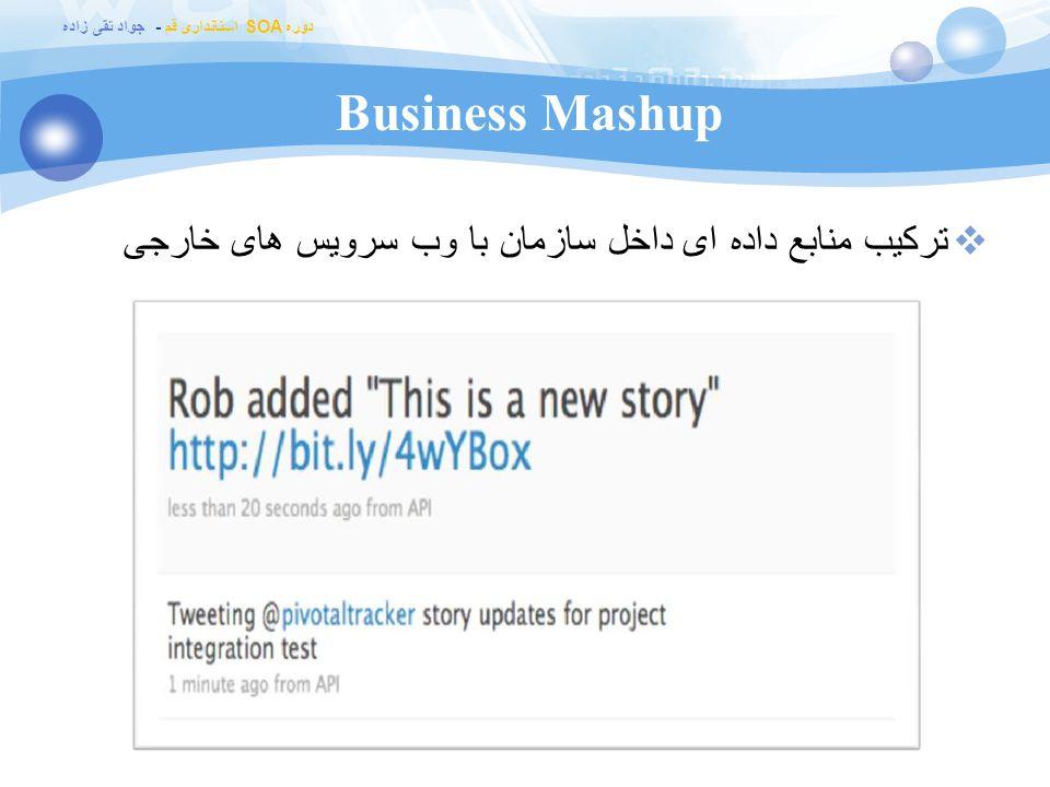 Business Mashup ترکیب منابع داده ای داخل سازمان با وب سرویس های خارجی