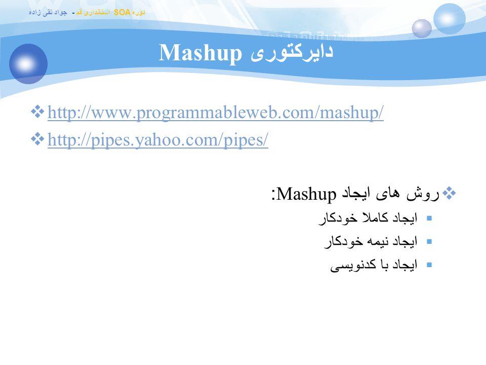 دایرکتوری Mashup http://www.programmableweb.com/mashup/