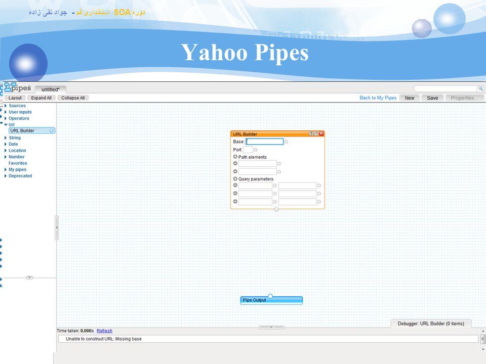 Yahoo Pipes http://pipes.yahoo.com/pipes/ Data mashup